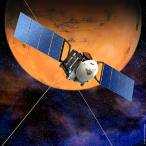 An artist's impression of the European Space Agency's Mars Express orbiter.