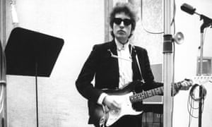 Making history … Bob Dylan in Columbia's studio A, New York City, in January 1965.