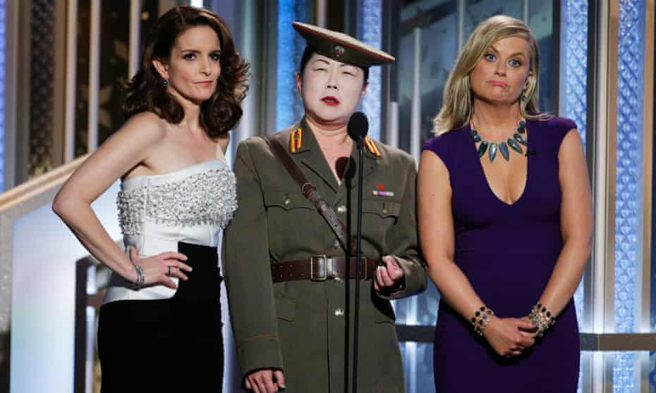 """Margaret Cho performs as """"???"""" alongside Tina Fey (left) and Amy Poehler"""