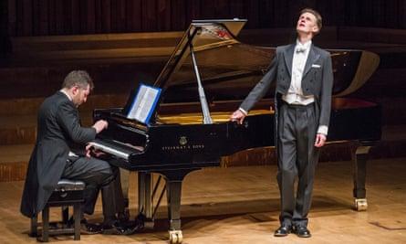 Thomas Adès on piano and Ian Bostridge singing Winterreise by Schubert, Barbican, London, January 2015.
