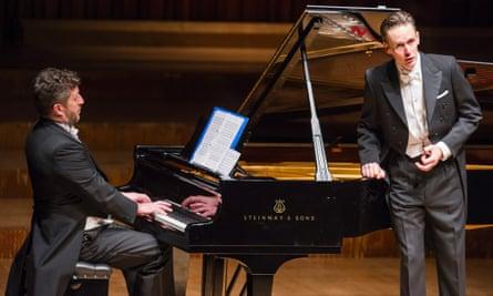 Thomas Ades on piano and Ian Bostridge singing Winterreise, Barbican January 2015.