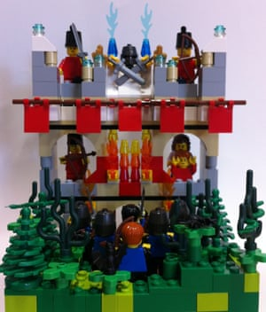 Attack on Rome from Shakespeare's Coriolanus in Lego