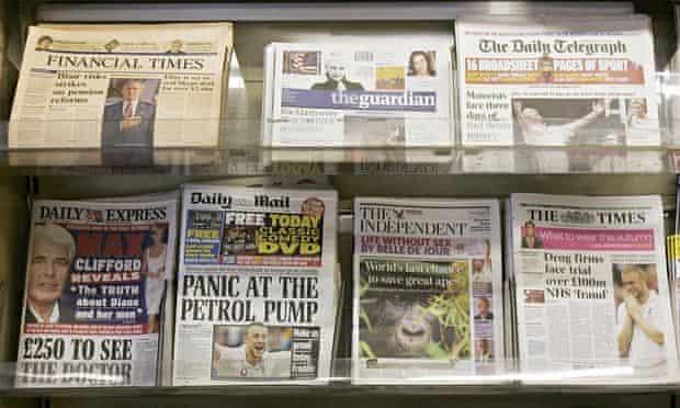 Various newspaper titles