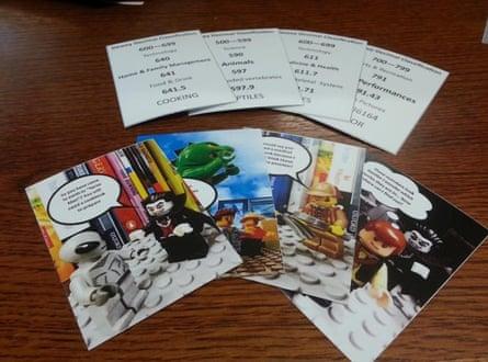 Dewey Decimal Classification card game using Lego images.