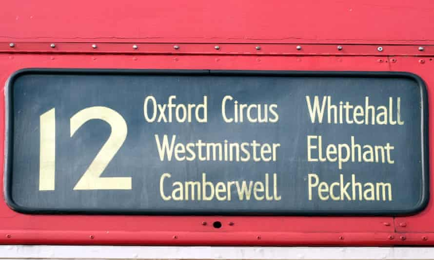 London bus destination board