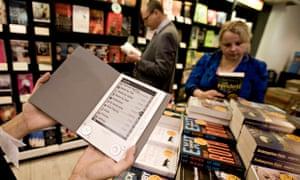 Ebook in bookshop