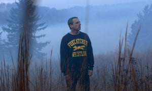 Steve Carell in a scene from Foxcatcher
