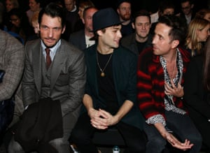 ...and here's David Gandy with Douglas Booth, and Nick Grimshaw at the Topman Design show at 12.46 the next day