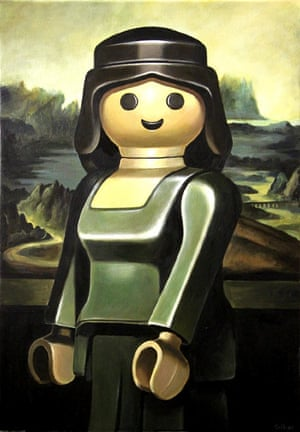 La joconde Interpretation of the Mona Lisa portrait of a woman by the Italian artist Leonardo da Vinci