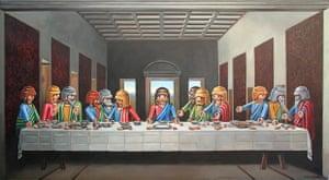 La Cene Interpretation of The Last Supper, a late 15th-century wall painting by Leonardo da Vinci
