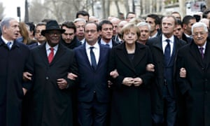 President Hollande and other heads of state in Paris