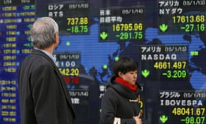Stock prices in Tokyo – Asian markets sank in early trading.