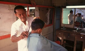 A barbershop in Managua, Nicaragua.