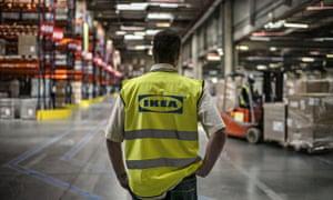 Ikea worker in warehouse