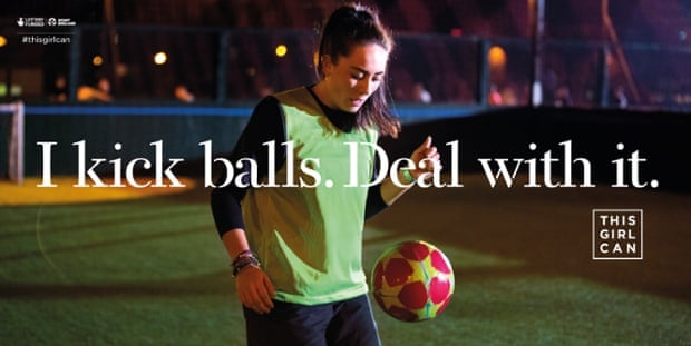 A billboard advert for Sport England's This Girl Can campaign
