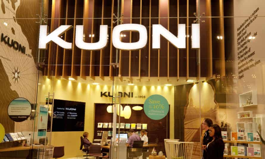 The Kuoni shop in Westfield shopping centre, Stratford, east London.