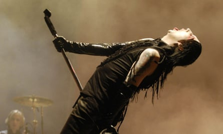 Marilyn Manson on stage at the Hurricane Festival in Germany, 2007