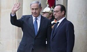 Benjamin Netanyahu and François Hollande