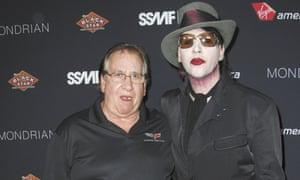 Marilyn Manson with his Vietnam veteran father, Hugh.