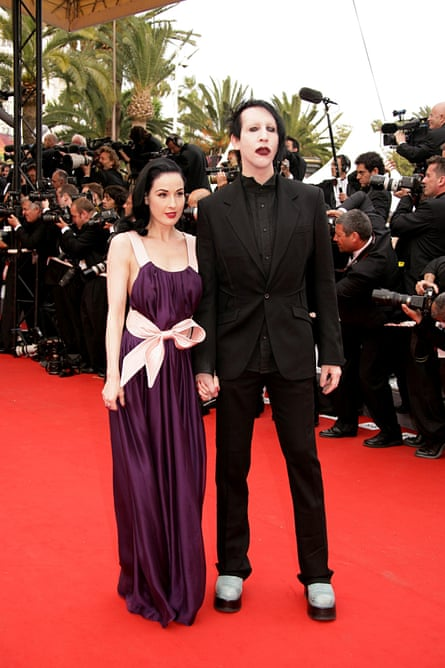 Marilyn Manson with his ex-wife Dita Von Teese.