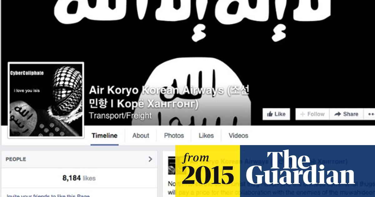Pro-Isis hackers attack North Korean airline Facebook page | World