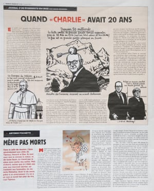 The magazine pokes fun at the pope.