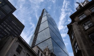 The Leadenhall Building, or Cheesegrater, has lost three bolts since November.