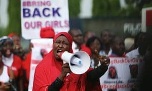 Chibok girls protest speaker