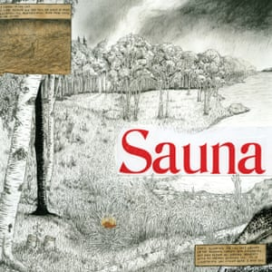 Mount Eerie, Sauna  Mount Eerie's Phil Elverum has delivered a surreal cover for his Viking and Zen-inspired new album. A landscape resembling a German woodcut has been overlaid with symbolist nature poetry in a Raymond Pettibon-style comic strip.