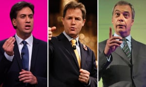 Ed Miliband, Nick Clegg and Nigel Farage have sent a letter to Cameron over the debates row.