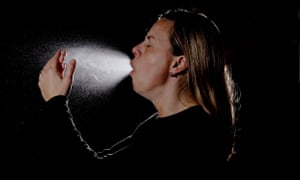 female coughing and sneezing