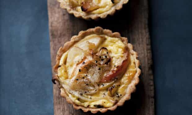 apple shallot tarts