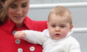 Prince George with the Duchess of Cambridge
