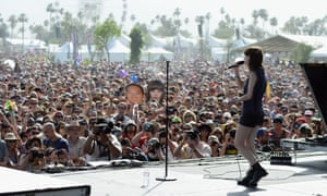 Lauren Mayberry of Chvrches performs at Coachella in 2014.