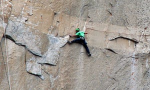 Kevin Jorgeson climbs on what is known as pitch 15