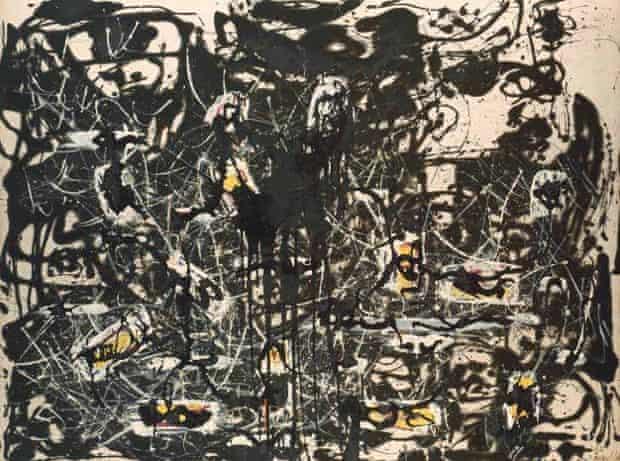 Yellow Islands (1952) by Jackson Pollock.