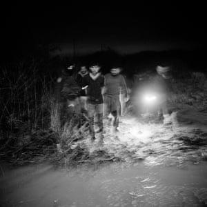 U.S. Border Patrol apprehension of migrants, Rio Grande Valley Sector near McAllen, Texas