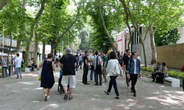 The Giardini, one of the venues of the Venice Biennale, Italy