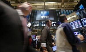 Traders at the New York Stock Exchange. Photo:   EPA/Andrew Gombert
