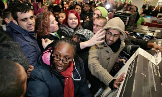 Shoppers at Asda in Wembley on Black Friday last year