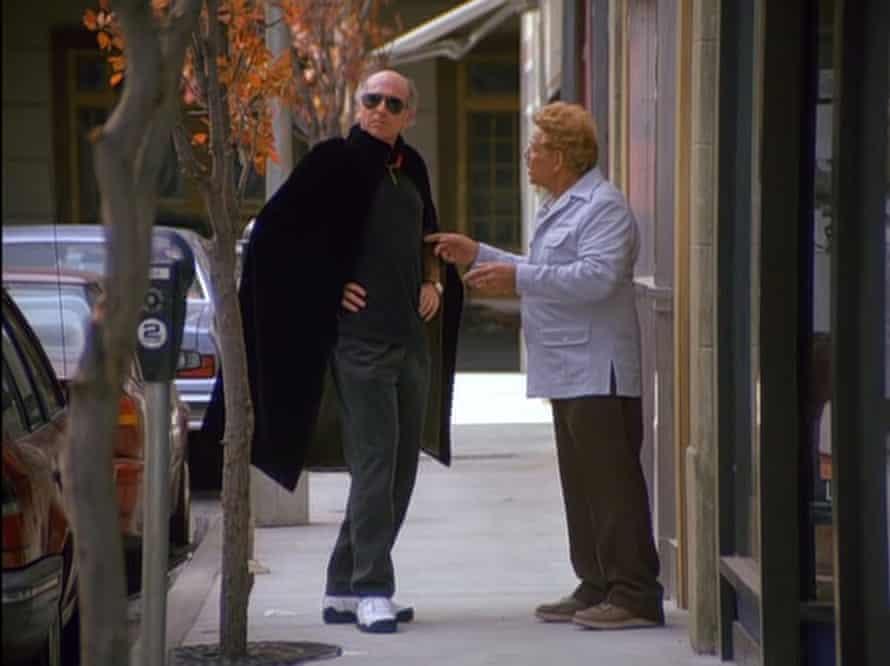 Larry David's episode-stealing cape.