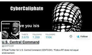US Central Command 's Twitter feed hack