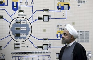 President Rouhani visits the Bushehr nuclear power plant just outside the port city of Bushehr, southern Iran