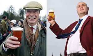 Nigel Farage and Al Murray