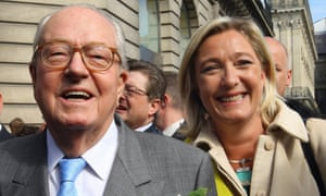 Jean-Marie Le Pen, left, and his daughter Marine Le Pen.
