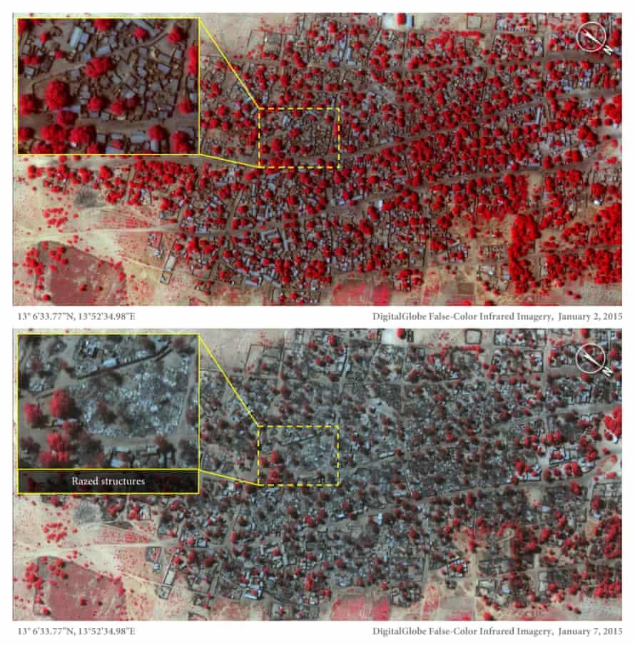 boko haram satellite image doro baga
