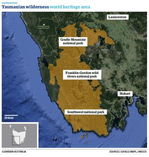 Tasmania wilderness area