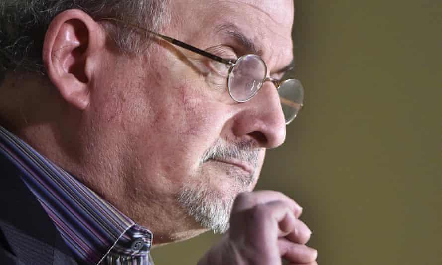 Salman Rushdie speaks at the University of Vermont.