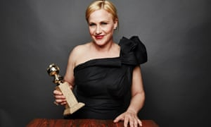 Patricia Arquette with her Golden Globe.