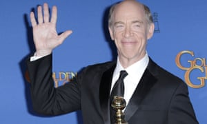 A trend emerges … JK Simmons with his Golden Globe.